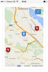 ITSM Mobile Google Maps